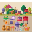 Barbeque Outdoors Object Set vector image vector image