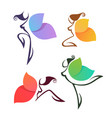 beautiful abstract lgirls look like a colorful vector image vector image