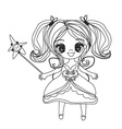 beautiful little fairy - doodle graphic vector image vector image