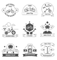 Bicycle Label Set vector image vector image