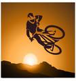 bicycle mtb trick jump vector image