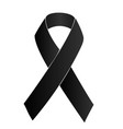 black ribbon vector image vector image