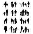 black silhouettes of families vector image vector image