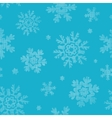 Blue lace snowflakes textile seamless pattern vector image vector image