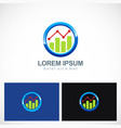 business finance progress round logo vector image vector image