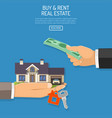 buy or rent real estate vector image