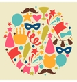 Carnival show and party greeting card with vector image vector image