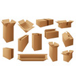 carton boxes delivery packages mail parcel vector image