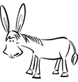 cartoon of donkey for coloring vector image vector image