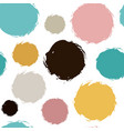 chaotic colorful polka dots painted vector image vector image