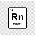 chemical element radon vector image vector image