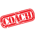 Coach stamp vector image vector image