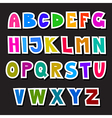 Colorful Funny Alphabet Set Isolated on Black vector image vector image