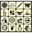 Cooking food icons set black vector image vector image