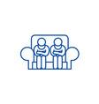 customer service line icon concept customer vector image vector image