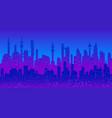 cyberpunk futuristic cityscape silhouette vector image vector image