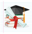degree scroll on background linear piece of vector image vector image