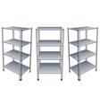 empty bookshelves vector image vector image