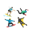 Extreme sport people silhouette vector image vector image