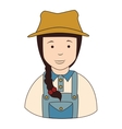 farmer girl overall icon vector image