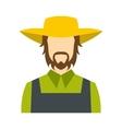 Farmer icon flat vector image vector image