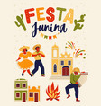 festa junina brazil june festival vector image vector image