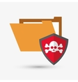 File design security icon Isolated vector image vector image
