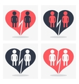 gay girl couple with broken heart vector image