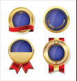 golden empty badge collection 3 vector image vector image