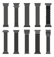 greek ancient columns classic roman and vector image vector image