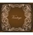 grunge baroque floral frame vector image vector image