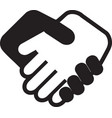 handshake icon contract agreement vector image vector image