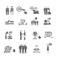 Hire Black Icons Set vector image vector image