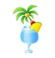 icon palm tree and drink vector image vector image