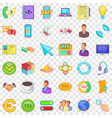 internet business icons set cartoon style vector image vector image