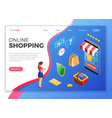 internet shopping online payments isometric vector image vector image