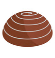 isolated chocolate marshmallow icon vector image vector image