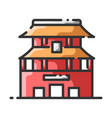 landmark forbidden city vector image