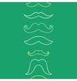 Line art mustaches vertical seamless pattern vector image