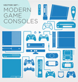 modern game consoles vector image vector image