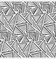 monochrome hand drawn striped triangles pattern vector image vector image
