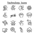 new technology icon set in thin line style vector image vector image