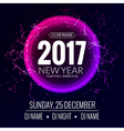 New year 2017 party and Christmas party poster vector image