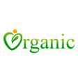 organic logo design template vector image