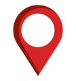 pointer location pin isolated icon vector image vector image