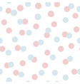 polka dots seamless pattern with blue pink circles vector image