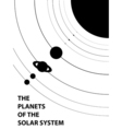 Poster of the planets of the solar system vector image