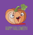 pumpkin look halloween funny cartoon vector image vector image