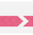 Red Arrow Knitted Pattern vector image vector image