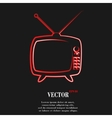 Retro tv Flat modern web button and space for your vector image